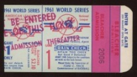 Authentic 1961 World Series Rain Check Ticket at PristineAuction.com
