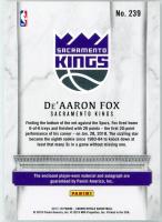 De'Aaron Fox 2017-18 Crown Royale #239 Jersey Autograph RC #152/199 at PristineAuction.com