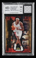 LeBron James 2004 Upper Deck LeBron James Freshman Season #2 with Game-Used Jersey (BCCG 10) at PristineAuction.com