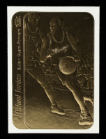 Michael Jordan Fleer 1986 23kt Gold Sticker Card at PristineAuction.com