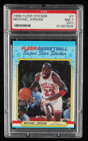 Michael Jordan 1988-89 Fleer Stickers #7 (PSA 7) (OC) at PristineAuction.com