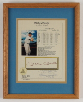 Mickey Mantle Signed Yankees 12x15 Custom Framed Career Stat Card Display (JSA ALOA) at PristineAuction.com