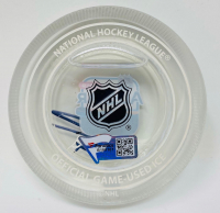 Leon Draisaitl Signed 2019 All-Star Game-Used Ice Crystal Puck (Fanatics Hologram) at PristineAuction.com