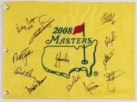 Golf Legends & Hall of Famers 2008 Masters Tournament Pin Flag Signed by (12) with Arnold Palmer, Nick Faldo, Billy Casper (JSA ALOA) at PristineAuction.com