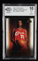 LeBron James 2003 Upper Deck LeBron James Box Set #19 / Wise Beyond His Years (BCCG 10) at PristineAuction.com