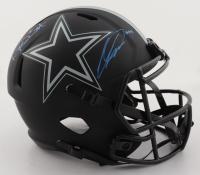 Dak Prescott & CeeDee Lamb Signed Cowboys Full-Size Eclipse Alternate Speed Helmet (Fanatics Hologram & Prescott Hologram) at PristineAuction.com
