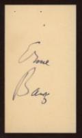 Ernie Banks Signed Business Card (JSA COA) at PristineAuction.com