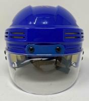 Leon Draisaitl Signed Oilers Logo Mini-Helmet (Fanatics Hologram) at PristineAuction.com