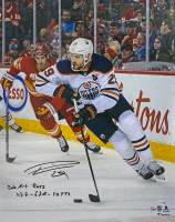 """Leon Draisaitl Signed LE Oilers 16x20 Photo Inscribed """"2020 Art Ross"""" & """"43G - 67A - 110 PTS"""" (Fanatics Hologram) at PristineAuction.com"""