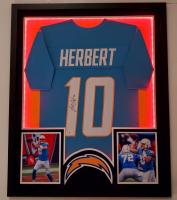 Justin Herbert Signed 35x43 Custom Framed LED-Backlit Jersey Display (Beckett COA) at PristineAuction.com