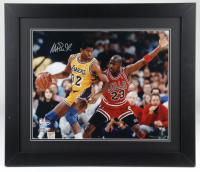 Magic Johnson Signed Lakers 23.5x27.5 Custom Framed Photo (Fanatics Hologram) (See Description) at PristineAuction.com