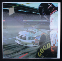 Mike Skinner NASCAR Truck Series Holographic Vinyl Display 31x32 at PristineAuction.com