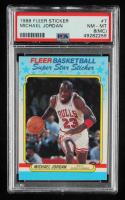 Michael Jordan 1988-89 Fleer Stickers #7 (PSA 8) (MC) at PristineAuction.com