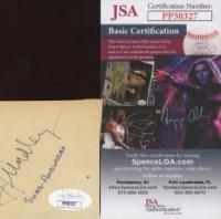 "Rodney Clark ""Hot Rod"" Hundley Signed Cut (JSA COA) at PristineAuction.com"