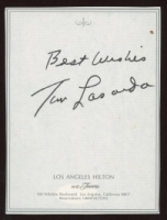 "Tom Lasorda Signed Cut Inscribed ""Best Wishes"" (JSA COA) at PristineAuction.com"