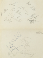 1972-73 Kings 9x12 Sheet Team Signed By (12) With Bob Cousy, Nate Archibald, Sam Lacey, Ron Riley, Tom Van Arsdale (JSA ALOA) at PristineAuction.com