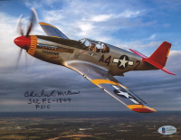 """Charles McGee Signed 8x10 Photo Inscribed """"302 F.S. - 1944"""" & """"P-51C"""" (Beckett COA) at PristineAuction.com"""