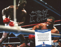 """James """"Buster"""" Douglas Signed 8x10 Photo Inscribed """"All The Best"""" , """"Love"""" , & """"Peace"""" (Beckett COA) at PristineAuction.com"""