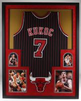 Toni Kukoc Signed 34x42 Custom Framed Jersey Display (Beckett COA & JSA COA) at PristineAuction.com