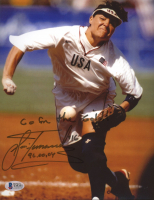 """Lisa Fernandez Signed Team USA 8x10 Photo Inscribed """"96, 00, 04"""" & """"Go For The Gold!"""" (Beckett COA) at PristineAuction.com"""