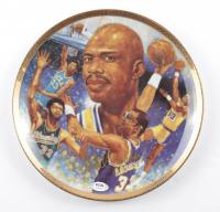 """Kareem Abdul-Jabbar Signed LE 1989 """"Path of Glory"""" NBA Ceramic Plate (PSA COA) at PristineAuction.com"""