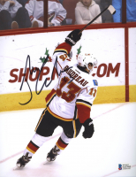 Johnny Gaudreau Signed Flames 8x10 Photo (Beckett COA) at PristineAuction.com