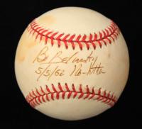 """Bo Belinsky Signed ONL Baseball Inscribed """"5/5/62 No-Hitter"""" (JSA COA) (See Description) at PristineAuction.com"""