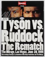 "Mike Tyson Signed ""Tyson vs Ruddock"" Original Mirage Fight Program (PSA COA) at PristineAuction.com"
