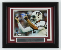 Johnny Manziel Signed Texas A&M Aggies 13.5x16.5 Custom Framed Photo Display (JSA COA) at PristineAuction.com