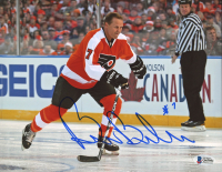Bill Barber Signed Flyers 8x10 Photo (Beckett COA) at PristineAuction.com