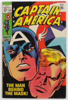 """1969 """"Captain America: The Man Behind The Mask!"""" Issue #114 Marvel Comic Book at PristineAuction.com"""