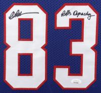 "Jim Kelly, Thurman Thomas, & Andre Reed Signed 33x41 ""Bills Dynasty"" Custom Framed Jersey Display Inscribed ""Biils Dynasty"" (JSA COA) at PristineAuction.com"