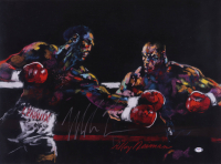 Mike Tyson Signed 17x25 Original LeRoy Neiman Fight Lithograph (PSA COA) (See Description) at PristineAuction.com