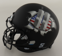 """Robert O'Neill Signed """"Twin Towers Tribute"""" Matte Black Mini Helmet Inscribed """"Justice Served"""" (PSA COA) at PristineAuction.com"""