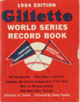 1954 Sports Booklets with Gillette World Series Record Book (See Description) at PristineAuction.com