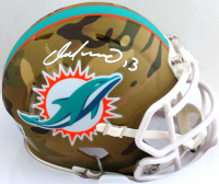 Dan Marino Signed Dolphins Camo Alternate Speed Mini-Helmet (Beckett Hologram) at PristineAuction.com