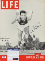 Mel Patton Signed 1948 Life Magazine Cover (PSA COA) (See Description) at PristineAuction.com