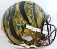 Joe Burrow Signed Bengals Full-Size Authentic On-Field Camo Alternate Speed Helmet (Fanatics Hologram) at PristineAuction.com
