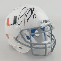 Gino Torretta & Vinny Testaverde Signed Miami Hurricanes Mini Helmet (Beckett Hologram) at PristineAuction.com
