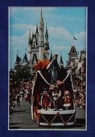 Disneyland Fantasyland's 12x20 Custom Framed Print Display with Original Vintage 1976 Bicentennial Items including Souvenir 8mm Film, Souvenir Postcard & Vintage Disneyland Ticket Book at PristineAuction.com