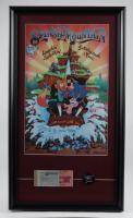"Disneyland ""Splash Mountain"" 15x26 Custom Framed Print Display with Vintage Disneyland Ticket Booklet & Retired Brer Rabbit Bronze Ride Pin at PristineAuction.com"