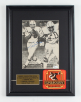Johnny Unitas Signed Chargers 14x18.5 Custom Framed Photo Display With Super Bowl V Patch (JSA COA) at PristineAuction.com