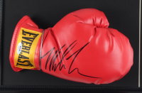 Mike Tyson Signed 17x22 Custom Framed Boxing Glove Display with Full Vintage World Boxing Magazine (PSA COA) at PristineAuction.com