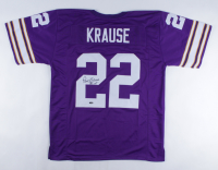 """Paul Krause Signed Jersey Inscribed """"81 INTs"""" (Playball Ink Hologram) at PristineAuction.com"""