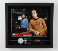 """William Shatner Signed """"Star Trek"""" 17x18x2 Custom Framed Shadowbox Display with Replica Prop & LE 23KT Gold Card (JSA COA) at PristineAuction.com"""