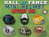 Schwartz Sports Football Hall of Famer Signed Mini Helmet Mystery Box – Series 15 (Limited to 100) at PristineAuction.com