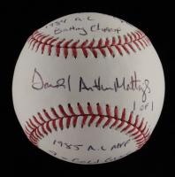 Don Mattingly Signed OML Baseball With Multiple Inscriptions (JSA COA) at PristineAuction.com