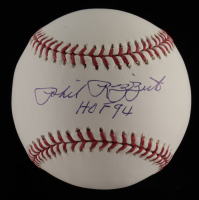 "Phil Rizzuto Signed OML Baseball Inscribed ""HOF 94"" (JSA COA) at PristineAuction.com"
