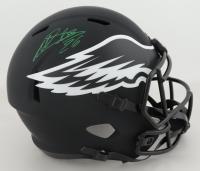 Miles Sanders Signed Eagles Full-Size Eclipse Alternate Speed Helmet (JSA COA) at PristineAuction.com