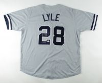 "Sparky Lyle Signed Jersey Inscribed ""77 AL CY"" (JSA Hologram) (See Description) at PristineAuction.com"